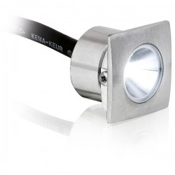 Aurora Lighting M-Lite Pro IP68 1W 4000K Square Stainless Steel LED Marker Light