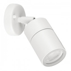 Enlite WallE IP44 35W White Adjustable GU10 Wall Light