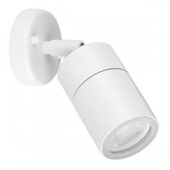 Aurora Lighting WallE IP44 35W White Adjustable GU10 Wall Light