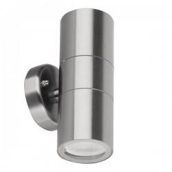 Aurora Lighting WallE IP44 2x35W Stainless Steel Up/Down GU10 Wall Light