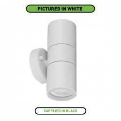 Enlite WallE IP44 2x35W Black Up/Down GU10 Wall Light