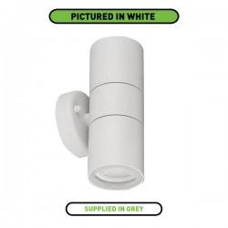 Aurora Lighting WallE IP44 2x35W Grey Up/Down GU10 Wall Light
