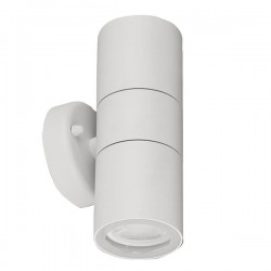 Aurora Lighting WallE IP44 2x35W White Up/Down GU10 Wall Light