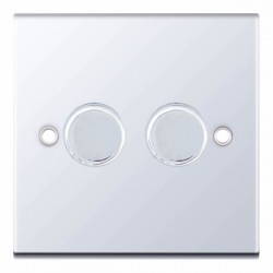 Selectric 5M Polished Chrome 2 Gang 400W 2 Way Dimmer Switch