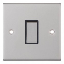 Selectric 5M Satin Chrome 1 Gang 10A 2 Way Switch with Black Insert