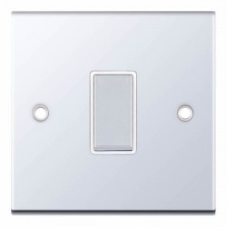 Selectric 5M Polished Chrome 1 Gang 10A Intermediate Switch with White Insert