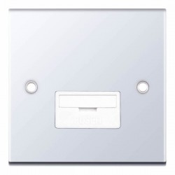 Selectric 5M Polished Chrome 13A Fused Connection Unit with White Insert