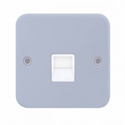 Selectric Metal Clad 1 Gang Telephone Secondary Socket