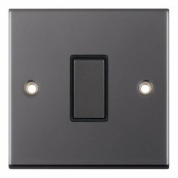 Selectric 5M Black Nickel 1 Gang 10A 2 Way Switch with Black Insert