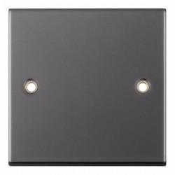 Selectric 5M Black Nickel 1 Gang Blank Plate