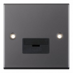 Selectric 5M Black Nickel 13A Fused Connection Unit with Black Insert