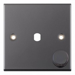 Selectric 5M Black Nickel 1 Gang Single Aperture Dimmer Plate with Matching Knob