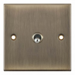 Selectric 5M Antique Brass 1 Gang 10A 2 Way Toggle Switch
