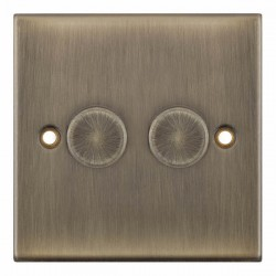 Selectric 5M Antique Brass 2 Gang 400W 2 Way Dimmer Switch