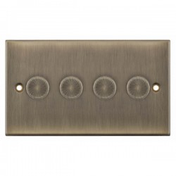 Selectric 5M Antique Brass 4 Gang 400W 2 Way Dimmer Switch