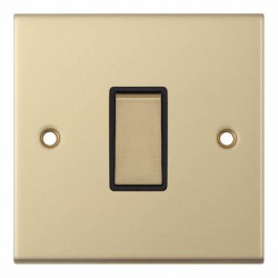 Selectric 5M Satin Brass 1 Gang 10A 2 Way Switch with Black Insert