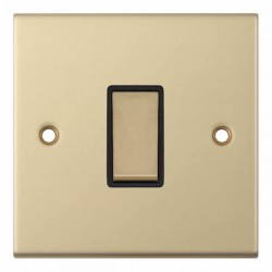 Selectric 5M Satin Brass 1 Gang 10A Intermediate Switch with Black Insert