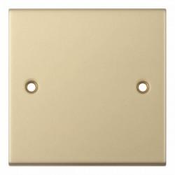 Selectric 5M Satin Brass 1 Gang Blank Plate