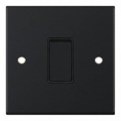 Selectric 5M Matt Black 1 Gang 10A 2 Way Switch with Black Insert