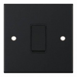 Selectric 5M Matt Black 1 Gang 10A Intermediate Switch with Black Insert
