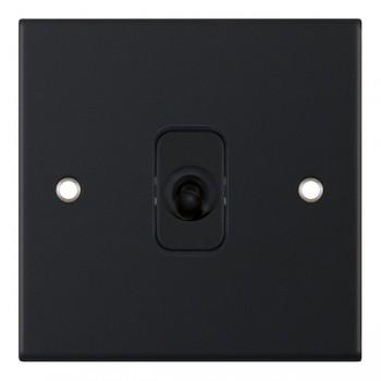 Selectric 5M Matt Black 1 Gang 10A Intermediate Toggle Switch