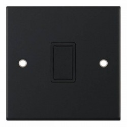 Selectric 5M Matt Black 1 Gang 20A DP Switch with Black Insert
