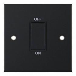 Selectric 5M Matt Black 1 Gang 45A DP Switch with Black Insert