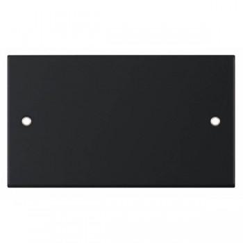 Selectric 5M Matt Black 2 Gang Blank Plate