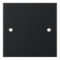 Selectric 5M Matt Black 20A Centre Entry Flex Outlet with Black Insert