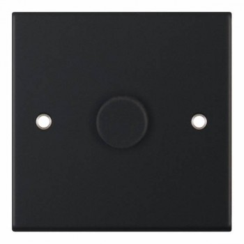 Selectric 5M Matt Black 1 Gang 400W 2 Way Dimmer Switch