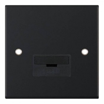 Selectric 5M Matt Black 13A Fused Connection Unit with Black Insert