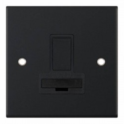 Selectric 5M Matt Black 13A DP Switched Fused Connection Unit with Black Insert