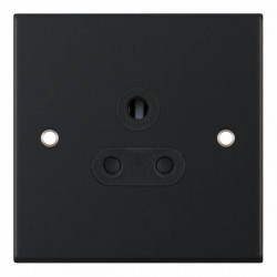Selectric 5M Matt Black 1 Gang 5A Round Pin Socket with Black Insert