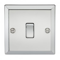 Knightsbridge Decorative Bevel Edge Polished Chrome 20A DP Switch
