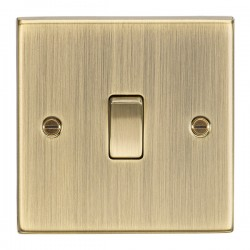 Knightsbridge Decorative Square Edge Antique Brass 10A 1 Gang 2 Way Switch