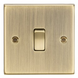 Knightsbridge Decorative Square Edge Antique Brass 20A DP Switch