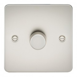 Knightsbridge Flat Plate Pearl 1 Gang 2 Way 10-200W Dimmer