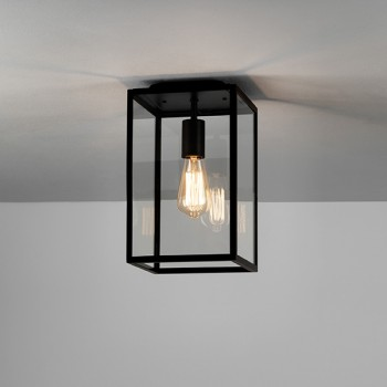 Astro Homefield Black Outdoor Ceiling Light