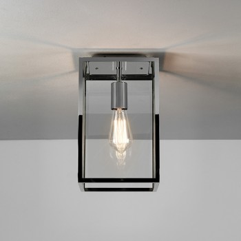 Astro Homefield Polished Nickel Outdoor Ceiling Light