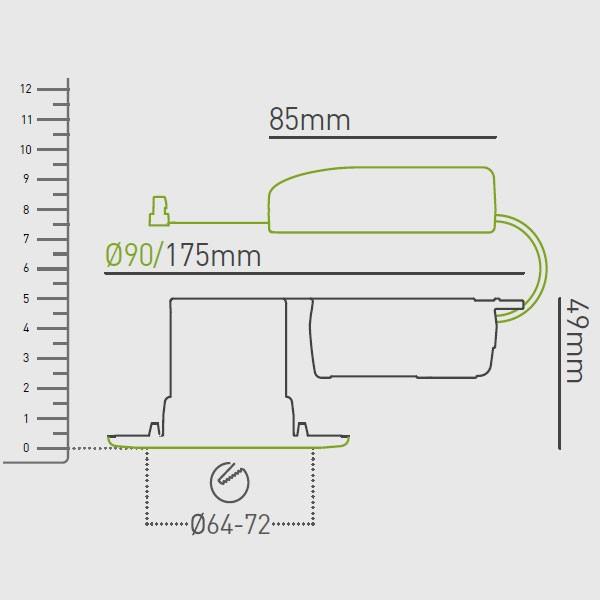 Pleasing Collingwood Halers H2 Lite 500 3000K Dimmable Matt White Fixed Led Wiring Digital Resources Sapredefiancerspsorg