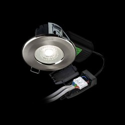 Collingwood Halers H2 Lite 500 CSW Colour Switchable Dimmable Brushed Steel Fixed LED Downlight