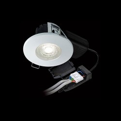 Collingwood Halers H2 Lite 500 CSW Colour Switchable Dimmable Matt White Fixed LED Downlight