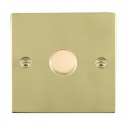 Hamilton Sheer Polished Brass 1 Gang 100W 2 Way LEDIT-B100 LED Dimmer