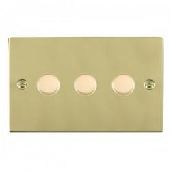 Hamilton Sheer Polished Brass 3 Gang 100W 2 Way LEDIT-B100 LED Dimmer