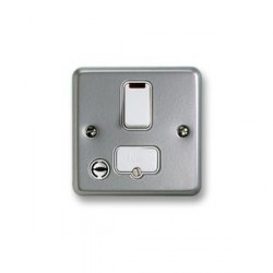 MK Electric Metalclad Plus™ 13A Double Pole Switched Fused Connection Unit with Flex Outlet and Neon