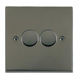 Hamilton Cheriton Victorian Black Nickel 2 Gang 100W 2 Way LEDIT-B100 LED Dimmer