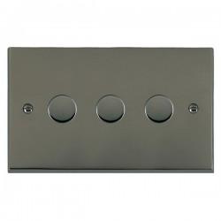 Hamilton Cheriton Victorian Black Nickel 3 Gang 100W 2 Way LEDIT-B100 LED Dimmer
