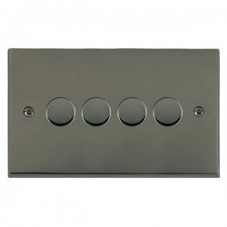 Hamilton Cheriton Victorian Black Nickel 4 Gang 100W 2 Way LEDIT-B100 LED Dimmer