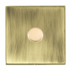 Hamilton Linea-Duo CFX Polished Brass/Antique Brass 1 Gang 100W 2 Way LEDIT-B100 LED Dimmer