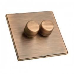 Hamilton Linea-Duo CFX Copper Bronze/Copper Bronze 2 Gang 100W 2 Way LEDIT-B100 LED Dimmer